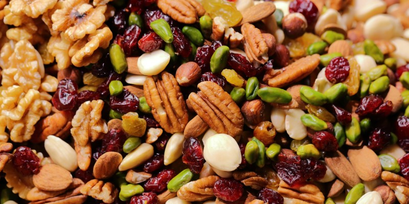 Nuts, dried fruit and seeds